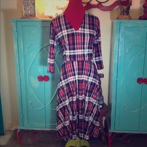 NWT Agnes & Dora Plaid Curie Dress Size XXL